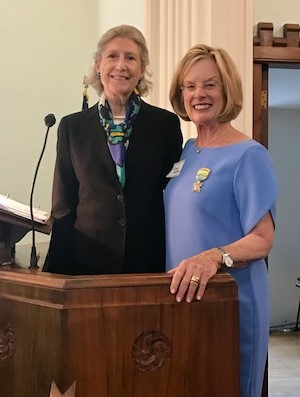 Mrs. Barry Edie Bingham Jr. with Mary Bradley accepting the MMB award May 2017